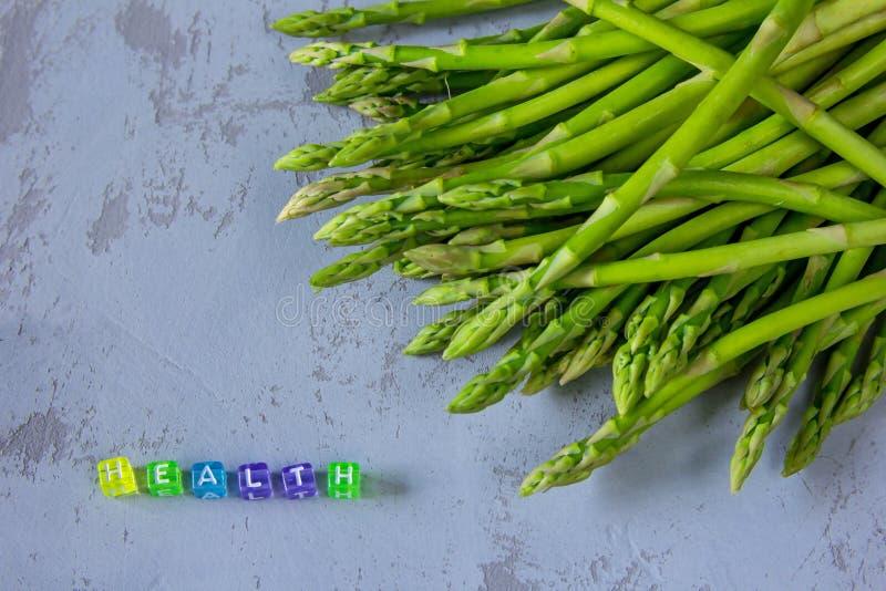 Ny sparris för sund skörd och VÅRD- ` för `, royaltyfri bild