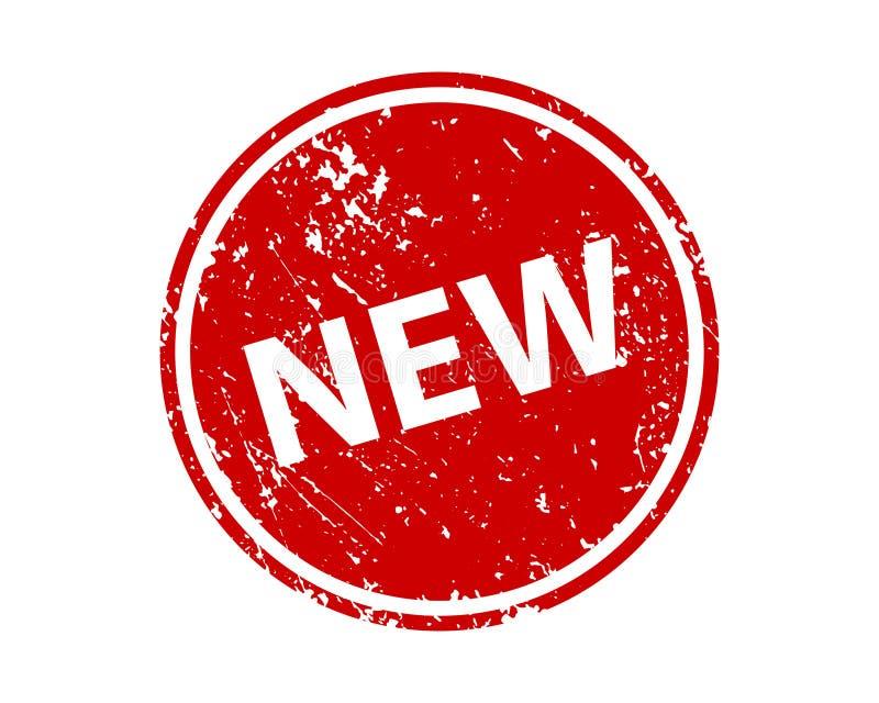 Ny stämpelvektortextur Gummiklichéavtryck Rengöringsduk eller tryckdesignbeståndsdel för tecknet, klistermärke, etikett vektor illustrationer