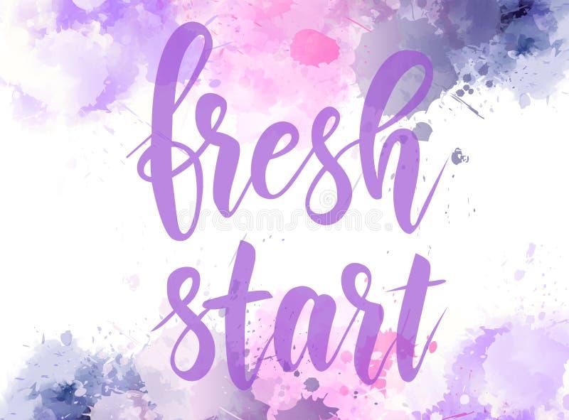 Ny start - motivational meddelande vektor illustrationer