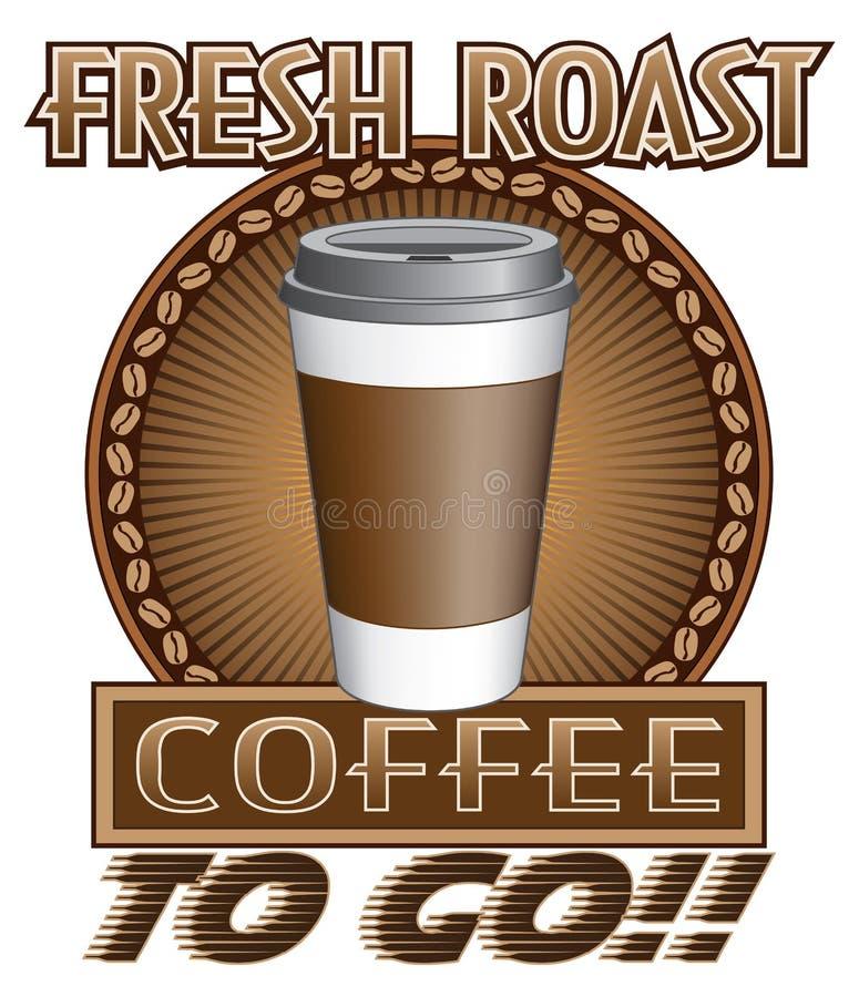 Ny stek för kaffe som går royaltyfri illustrationer
