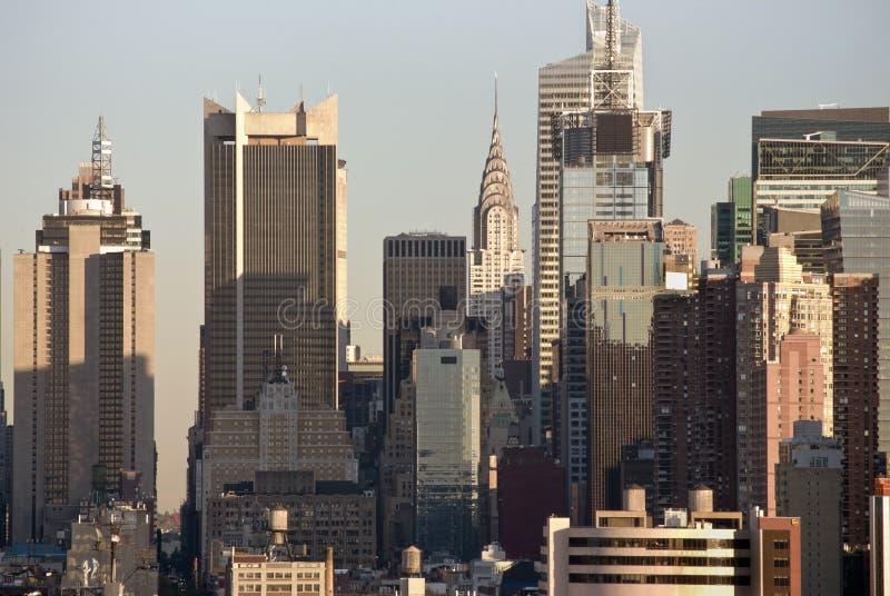 NY TagesSkyline-Detail lizenzfreie stockfotografie