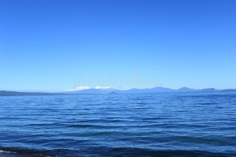 ny taupo zealand för lake royaltyfria bilder