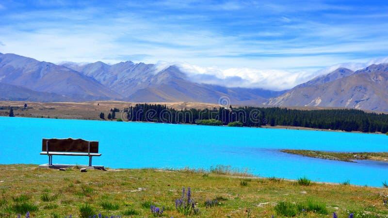 ny tekapo zealand för lake royaltyfri foto