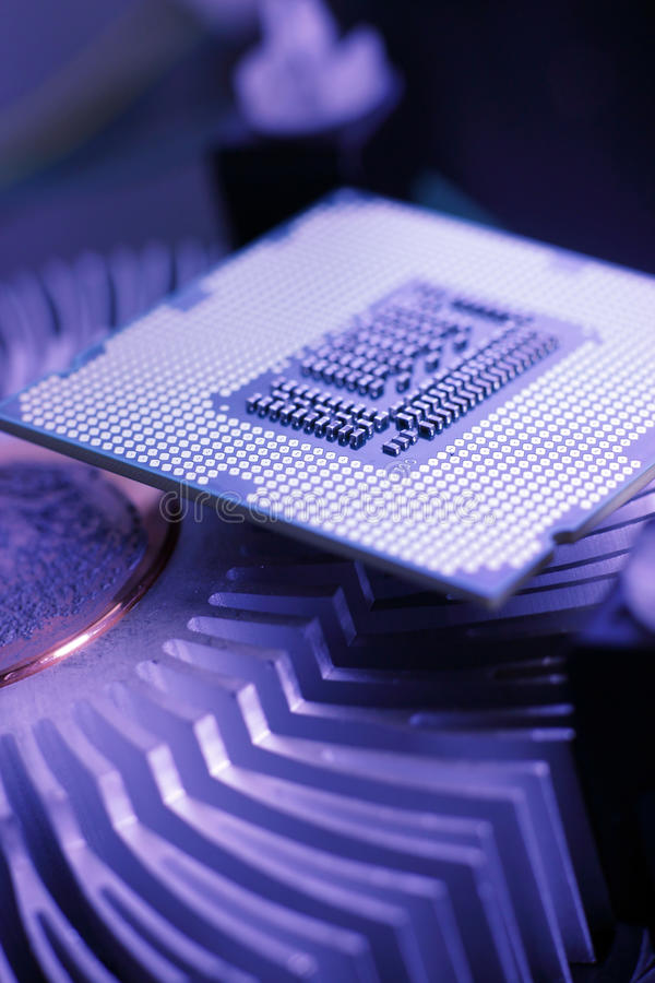 Ny teknikprocessor arkivfoton