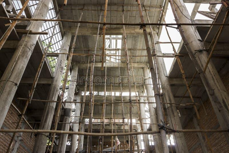 Ny tempelkonstruktion arkivbilder