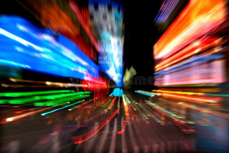 NY tijdenvierkant bij nacht stock fotografie