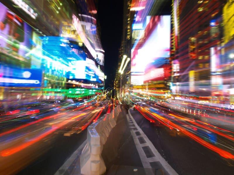 NY tijdenvierkant bij nacht stock foto's