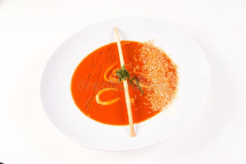 Ny tomatsoppa arkivfoton