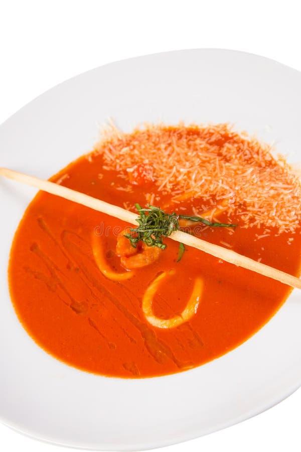 Ny tomatsoppa royaltyfri bild