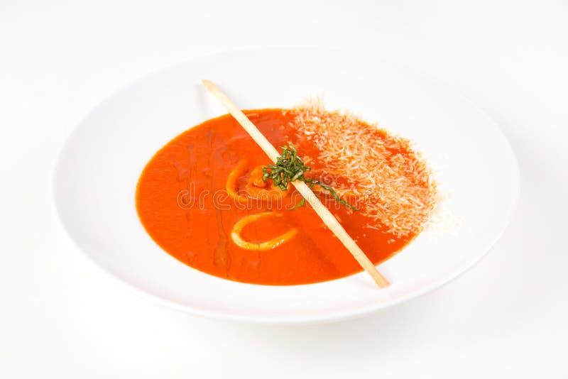 Ny tomatsoppa royaltyfria foton