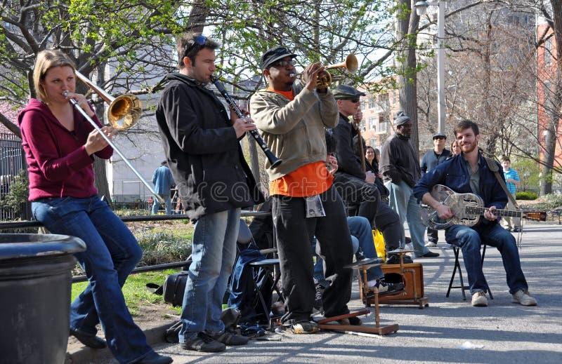 ny trad by york för bandgreenichjazz fotografering för bildbyråer