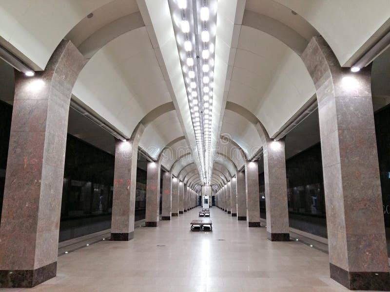 Ny tunnelbanastation Gorkovskaya Nizhny Novgorod arkivfoto