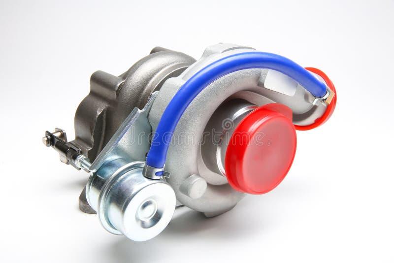 Ny turbo som isoleras på vit bakgrund royaltyfri bild