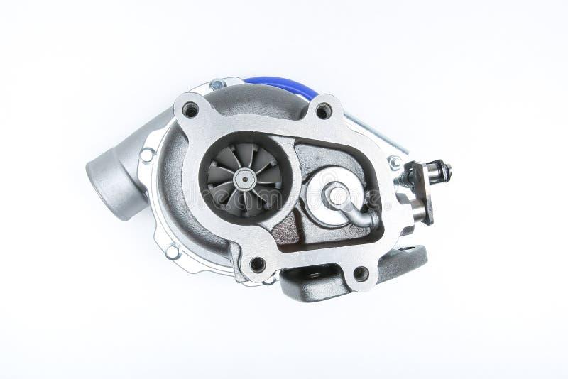 Ny turbo som isoleras p? vit bakgrund royaltyfri foto