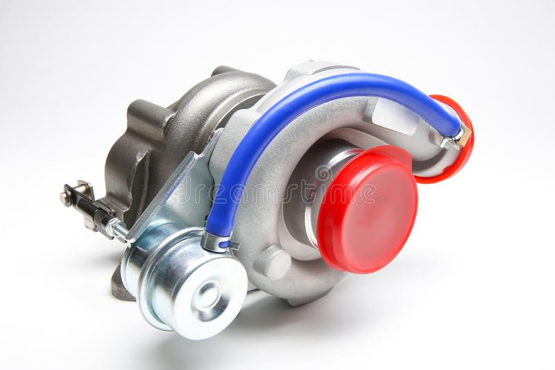 Ny turbo som isoleras p arkivbild