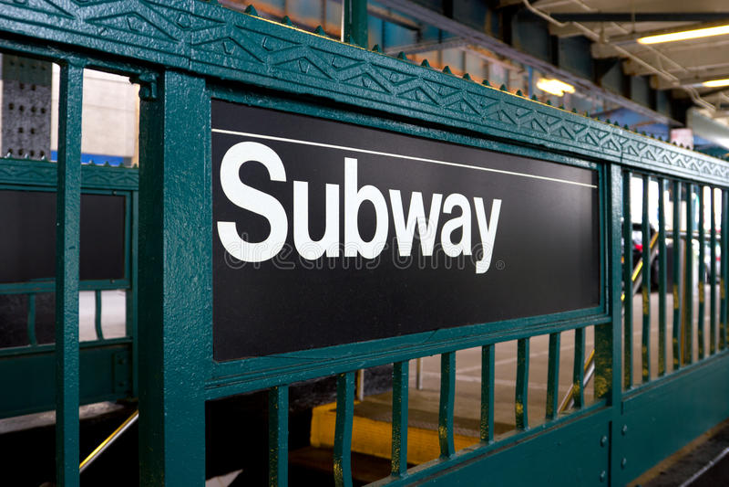 NY U-Bahnstation lizenzfreies stockbild