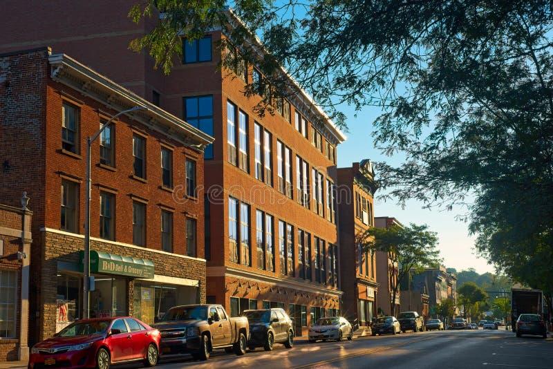 NY van Main Street Peekskill royalty-vrije stock afbeelding