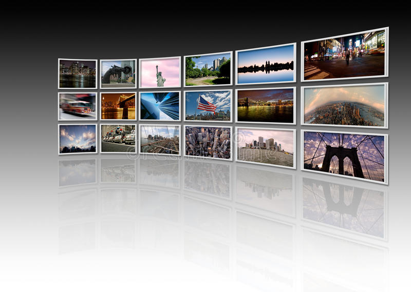 ny videowall royalty ilustracja