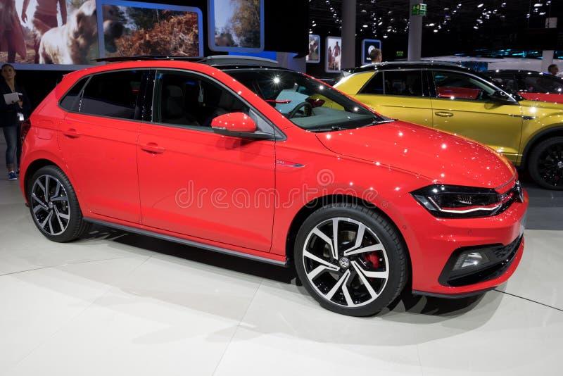 Ny Volkswagen Polo GTI bil 2018 arkivbilder