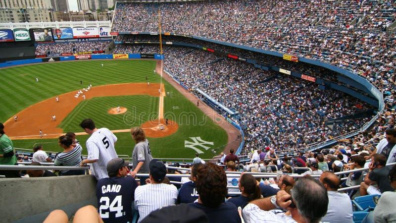 NY-Yankees und Detroit Tigers-Baseballspiel am 8. Juli 2007 lizenzfreies stockbild