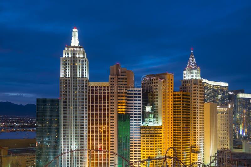 Ny York-ny York hotell och kasino, Las Vegas, NV, USA royaltyfria bilder