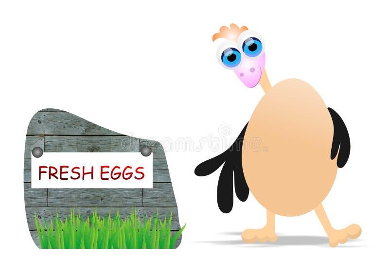 Nya ägg vektor illustrationer
