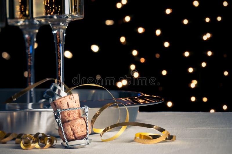 Nya år Champagne royaltyfri bild