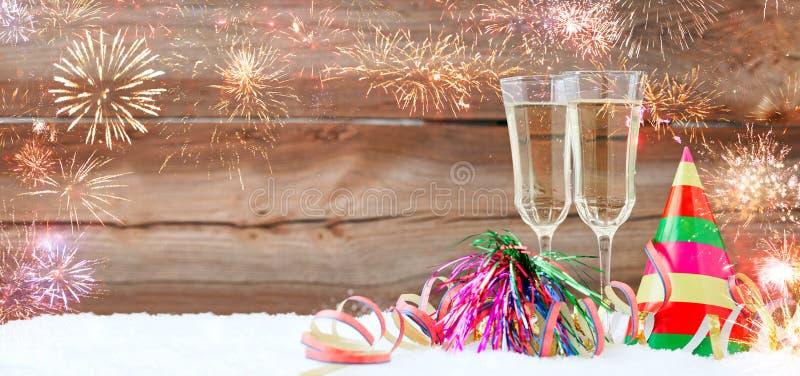 Nya år helgdagsafton arkivfoto