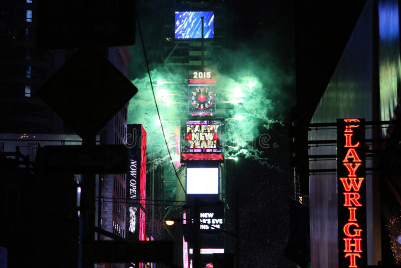 Nya år helgdagsafton i NYC 2015 royaltyfri bild
