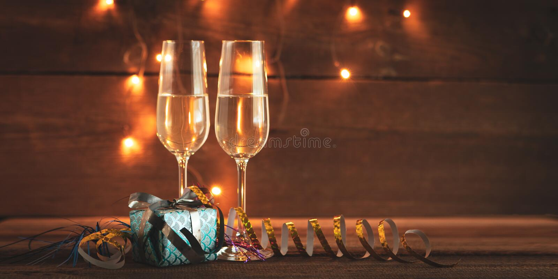 Nya år helgdagsaftonbakgrund royaltyfria foton