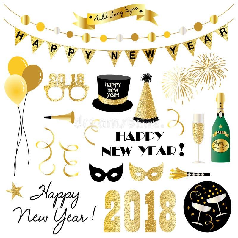 Nya år helgdagsaftonclipart