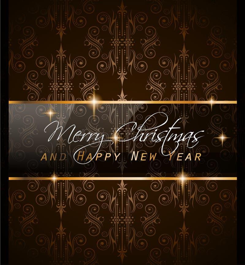2016 nya år och för lycklig jul bakgrund stock illustrationer