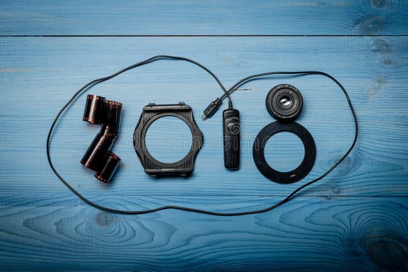 Nya 2018 år siffror royaltyfria bilder