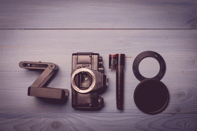 Nya 2018 år siffror fotografering för bildbyråer