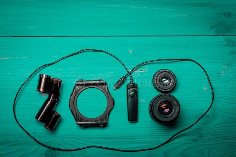 Nya 2018 år siffror arkivfoton