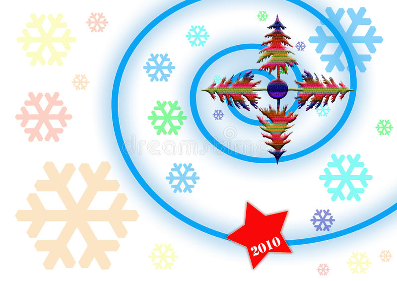 nya 2010 royaltyfri illustrationer