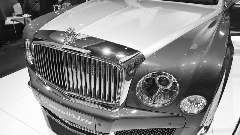 Nya Bentley Mulsanne royaltyfria foton
