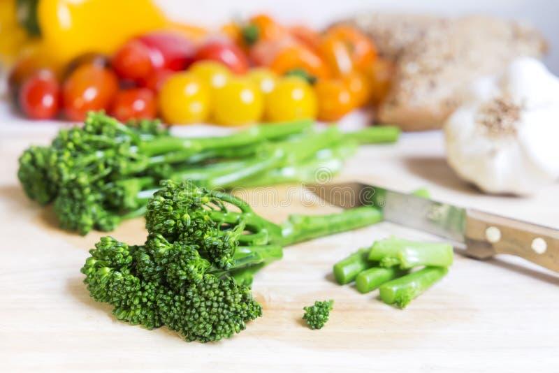 Nya bimibroccoli och grönsaker royaltyfria bilder