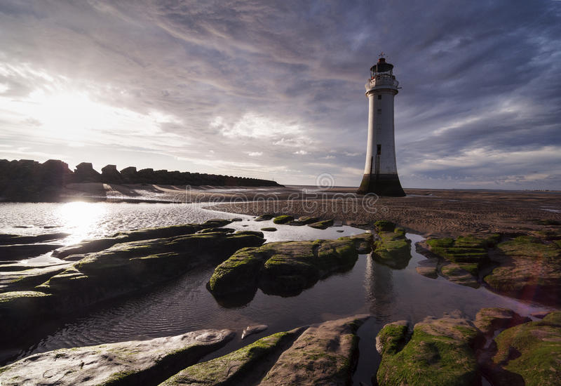 Nya Brighton Lighthouse [Liverpool, UK] royaltyfria bilder
