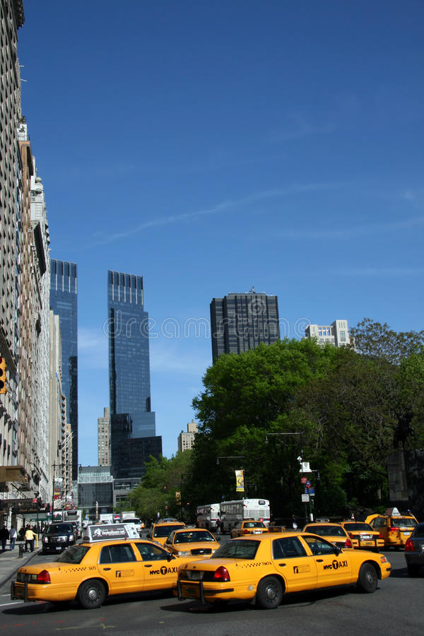 nya cabs taxar york arkivbild