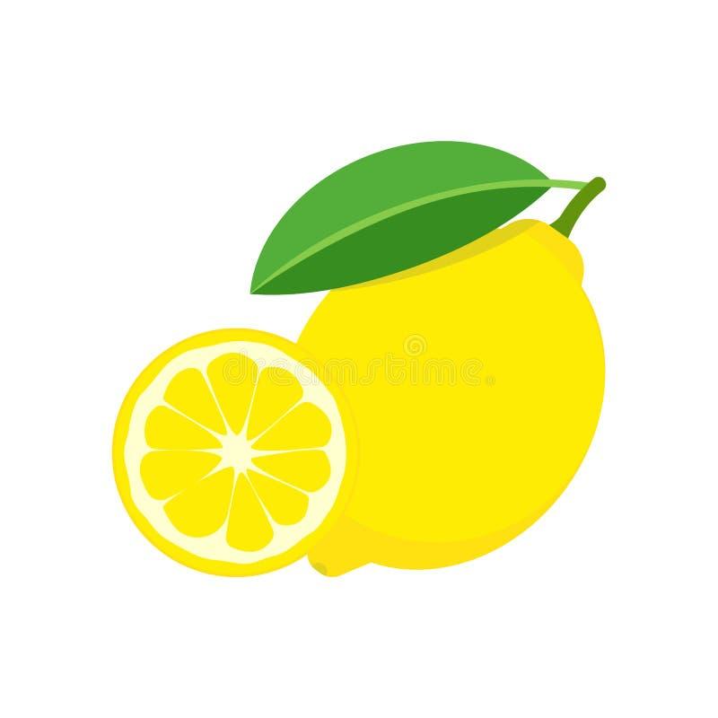 Nya citronfrukter som isoleras p? vit bakgrund ocks? vektor f?r coreldrawillustration vektor illustrationer