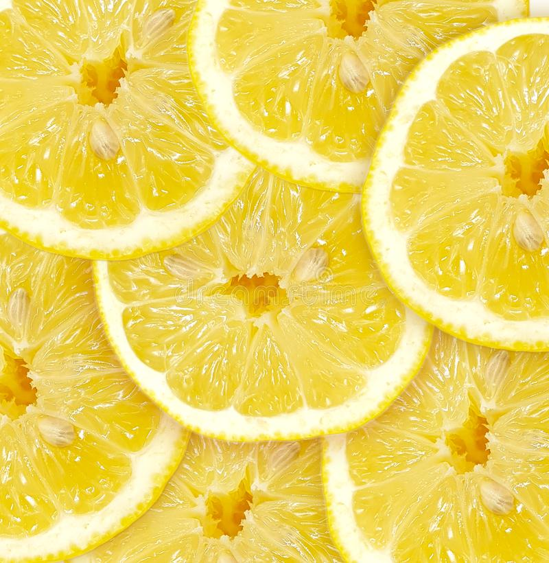 nya citronskivor E arkivfoto