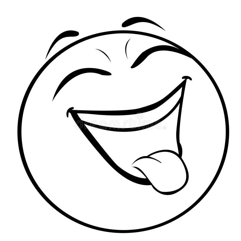 Nya emoticonaoutlines sänker symbolen stock illustrationer
