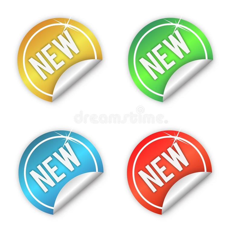 nya etiketter royaltyfri illustrationer