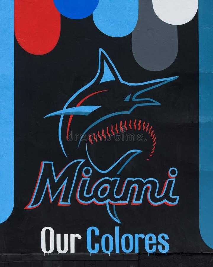 Nya färger för Miami Marlins royaltyfria bilder