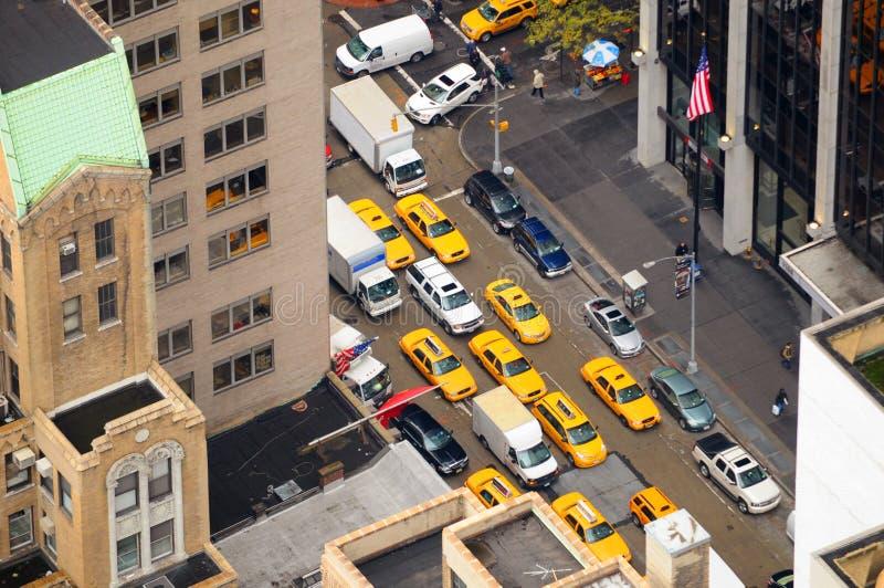nya flyg- cabs taxar sikten york arkivbild