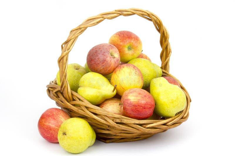 nya frukter för korg arkivfoto