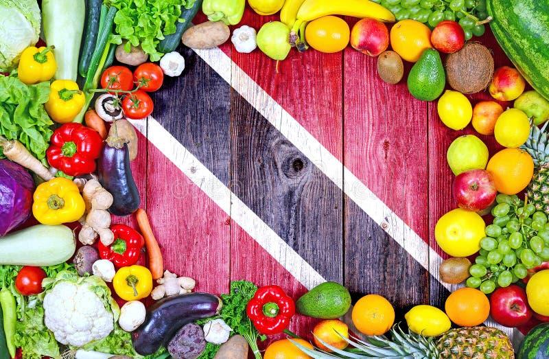 Nya frukter och gr?nsaker fr?n Trinidad och Tobago arkivfoto