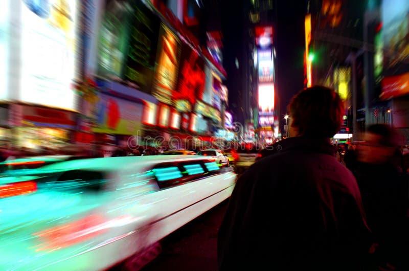 nya fyrkantiga tider york för limo royaltyfri fotografi