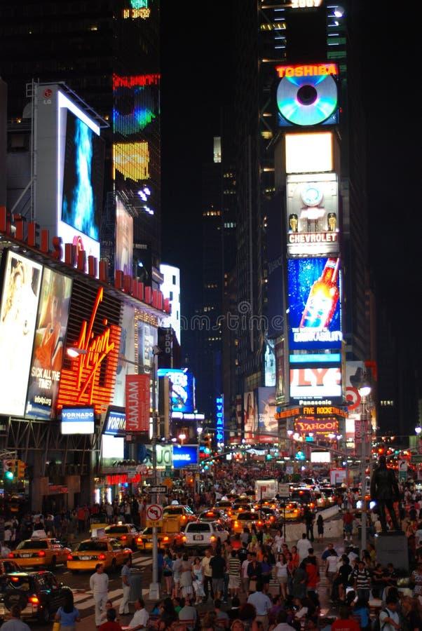 nya fyrkantiga tider york för stad royaltyfria foton